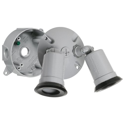 Hubbell Taymac LT233S Traditional Outdoor Flood Light Kit, Gray