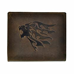 Hawai Roaring Lion Face Embossed Wallet for Men