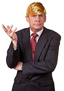 KINREX Mens Mr. President Wig - Halloween Costume Wig - Billionaire Wig