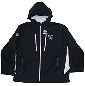 Oakland Raiders Size 3X-Large Long NFL Sideline Mid-Weight Jacket with Lining - XXXL... by Reebok