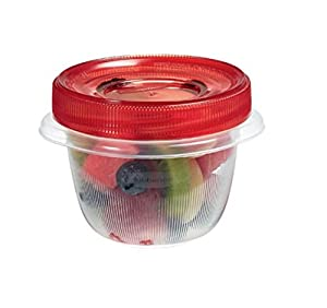 Rubbermaid TakeAlongs Twist and Seal Food Storage Containers, Set of 4, 1.2-cup, Chili