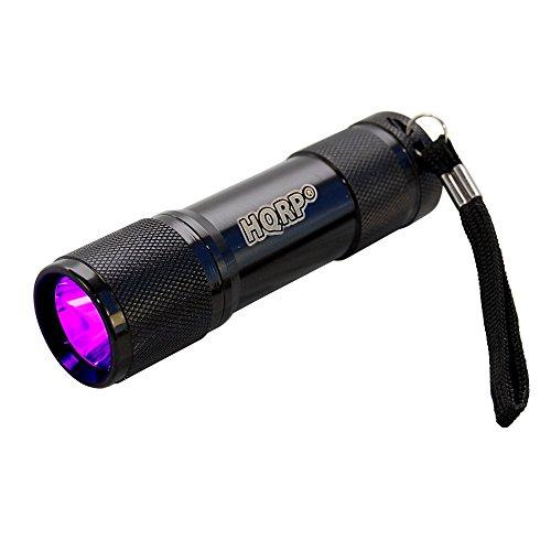 Hqrp 365 Nm Powerful 1 Watt Uv Led Ultraviolet Inspection / Detection / Identification Flashlight Blacklight For Document / Forgery Analysis, Currency / Bill Verification Plus Hqrp Uv Meter
