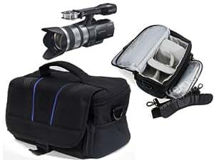Navitech sacoche sac protection rangement pour caméra ou appareil photo SLR DSLR, lentilles, câbles et accessoires