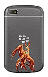 WOW Transparent Printed Back Cover Case For BlackBerry Q10