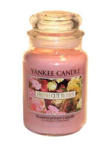 Yankee Candle Large 22-Ounce Jar Candle, Fresh Cut Roses