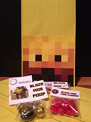 Minecraft Blaze Mob Party Kit Package from Minecraft Party Solved