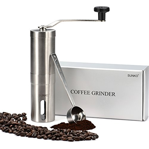 SUNKO Coffee Grinder Manual Coffee Mill&Burr Grinder