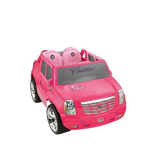 Power Wheels Fisherprice Barbie Cadillac Hybrid Escalade Ext Pink front-512193