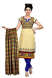 Riddhi Dresses Women's Cotton Unstitched Dress Material (Riddhi Dresses 91_Multi Coloured_Free Size)