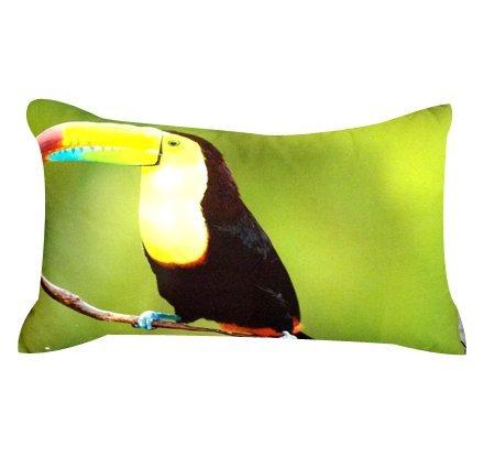 Artiwa Toucans Bird Cotton & Soft Velvet Long Sofa Couch Throw Decorative Pillow Cover 12X20 Inch front-359050