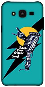 The Racoon Lean Rock star hard plastic printed back case for Samsung Galaxy J5