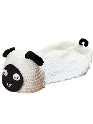 Baby Newborn Handmade Knitted Crochet Hat Costume Photograph Props (Sheep)
