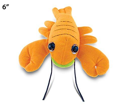 "Big Eye Orange Lobster Plush, 6"""