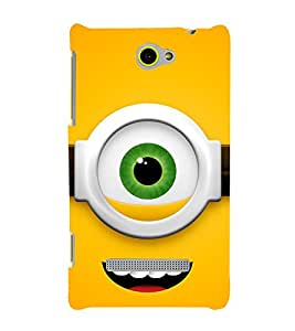 printtech Funny Yellow Face Glasses Back Case Cover for HTC 8S