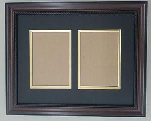 Amazon Com 11x14 Walnut Brown Beaded Frame With Black