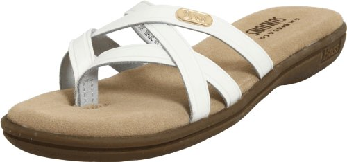 Bass Women's Sharon Sandal,White,8.5 M US Picture
