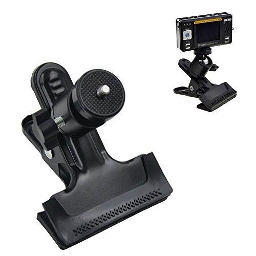 'Racksoy pour Trépied compact Pince de montage Appareil photo Flash Support de fond pour studio avec rotule 1/4filetage réglable à 360° pour GoPro