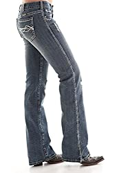 Cowgirl Tuff Western Jeans Womens Honey II Crinkle Medium Wash JHNYTH