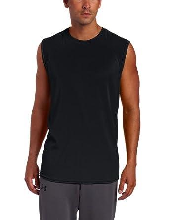 Russell Athletic Men's Dri-Power Sleeveless Raglan Tee, Black, Small