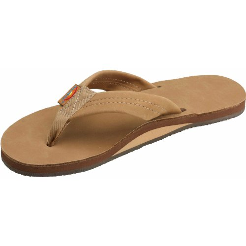 Rainbow Basic Leather Sandals - Sierra Brown Lrg front-884811