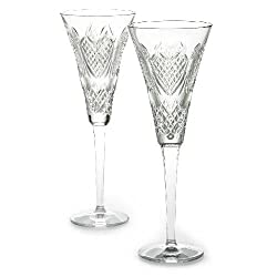 Waterford Crystal Wedding Heirloom Flute Pair