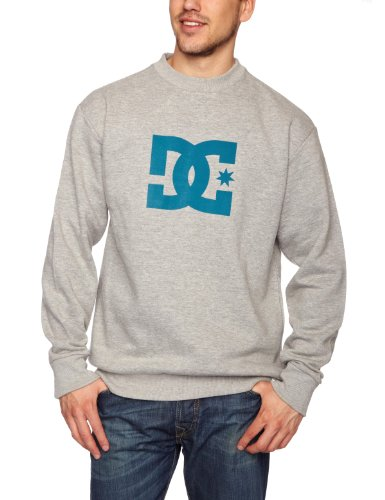 DC Shoes Star Crew Men's Sweatshirt Heather Grey/Pacific Blue X-Large