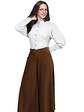 Scully Lovely Split Skirt - Brown  AT vintagedancer.com