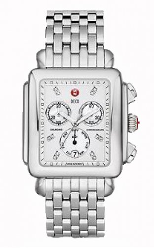 Michele Deco XL Diamond Chronograph Mother of