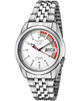 Seiko Men's 5 Automatic SNK369K Silver Stainless-Steel Automatic Watch with White Dial