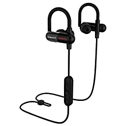 SoundPEATS Bluetooth Earbuds In-Ear Secure Fit Sport Wireless Stereo Headphones (8 Hours Play Time, Bluetooth 4.1, aptx, Sweatproof, CVC 6.0 Noise Cancelling) Q11 - Black