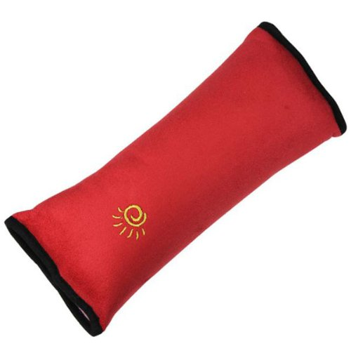 Foxnovo Universal Detachable Children Kids Car Safety Seat Belt Shoulder Pad Pillow Protector Cushion (Red) front-1023987