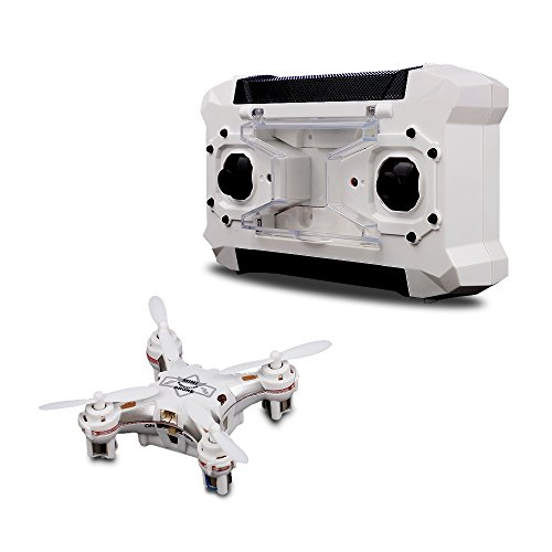 TEC.BEAN Mini Pocket Drone 4CH 6 Axis Gyro RC Micro Quadcopter with 3D Flip, Headless Mode, One Key Return Nano Copters RTF Mode 2 (WHITE)