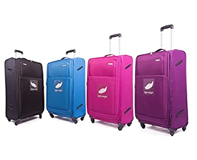 4 Wheel Super-Lightweight Suitcase Luggage, World Lightest Holiday Carry on Baggage, Large and Small Cabin Travel Bags