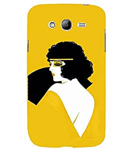 TOUCHNER (TN) Curly Hair Girl Back Case Cover for Samsung Galaxy Grand