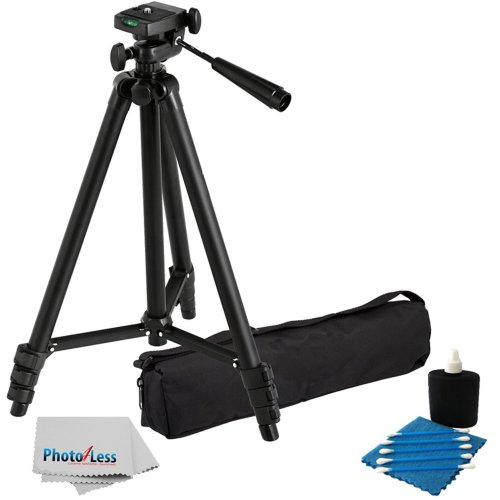 Professional 59-Inch Lightweight Tripod For All Digital Slr Cameras And Camcorder Canon Sony, Nikon, Samsung, Panasonic, Olympus With Quick Release Mount + Carrying Case + Camera Lens Cleaning Kit