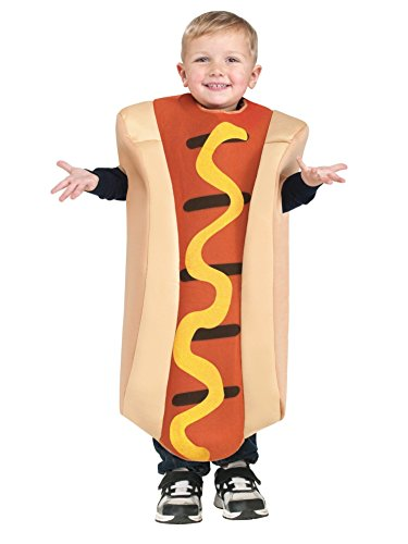 [Toddler Hot Dog Costume, 3T-4T] (Hot Dog Baby Costumes)