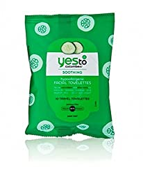 Yes To Cucumbers Soothing Facial Wipes Hypoallergenic 10 Count Pack Of 3