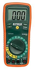 Extech EX410 Manual Ranging Digital Multimeter with Type K Remote Probe Thermometer