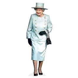 Silueta de Su Majestad La Reina a Tamaño Natural con Soporte, Gastos de Envío Gratis al Reino Unido