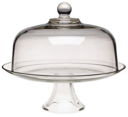 Anchor Hocking Presence Cake Plate w/Dome, 2 Piece Stand & Dome (Glass Cake Stands compare prices)