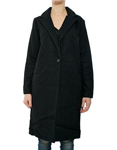 Sparkz Ariana donna, cappotto classico, nero, Small EU