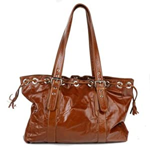 Ramalama of Australia - Leather Diaper Bag - DREW / Caramel