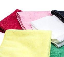 Microfiber MICRO FIBRE CLEANING CLOTH for car home offce bike -10 nos(Pcs) - MEASURES 30X30CM