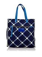 Marc By Marc Jacobs Bolso de asa Mano Tt Tote Plaid (Azul)