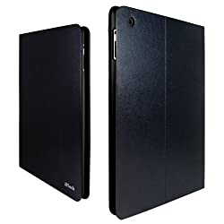 iPad Case, JETech® Diamond Folio Leather Smart Cover iPad Case for Apple iPad 2, iPad 3, and the New iPad 4 with Built-in Stand and Front/Back Protection (Latest Version with Built-In Magnet for Sleep/Wake Feature) (Z- Diamond- Black/Black)