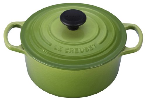 Le Creuset Signature Enameled Cast-Iron 2-Quart Round French (Dutch) Oven, Palm (Le Creuset Small Dutch Oven compare prices)