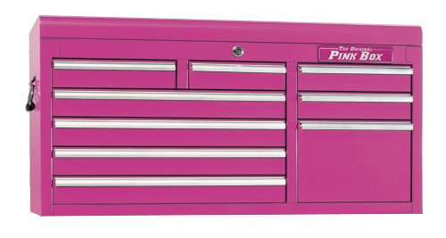 Images for The Original Pink Box PB4109C 41-Inch 9-Drawer 18G Steel Tool Chest, Pink