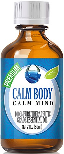 Calm Body, Calm Mind Blend 100% Pure, Best Therapeutic Grade Essential Oil - 60ml / 2 (oz) Ounces - Sweet Marjoram, Roman Chamomile, Ylang Ylang, Sandalwood, Vanilla, French Lavender