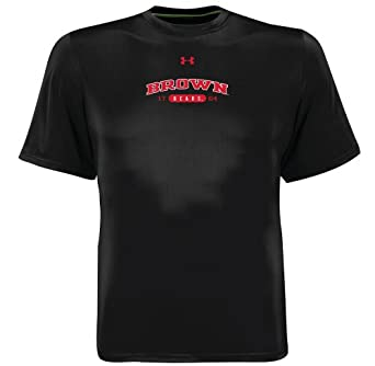 NCAA Men's Brown Bears Short Sleeve Catalyst Tee By Under Armour (Black, Small)
