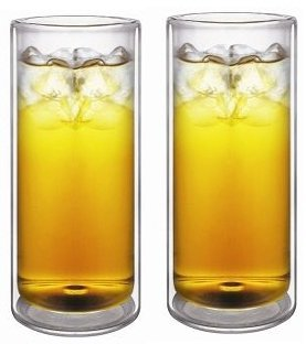 Sun's Tea (TM) 20oz Strong Double Wall Thermo Glasses/Tumbler for Beer/Cocktail/Lemonade/Iced Tea, Set of 2